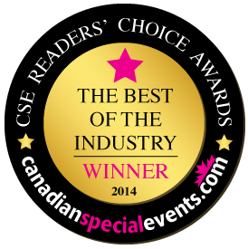 2014 Reader's Choice Favourite Event Planner in Canada